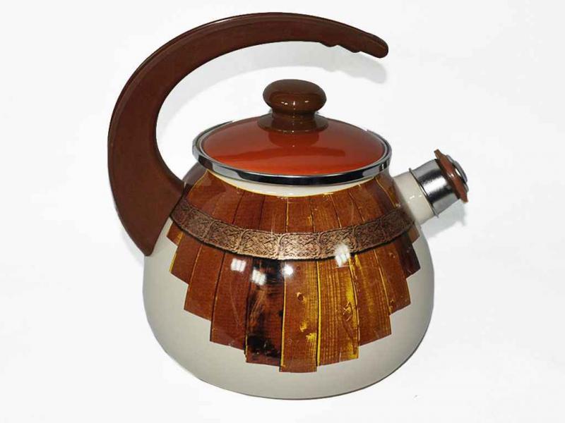 Фото Чайники, Чайники эмалированные Чайник EPOS 2,5л со свистком Тын