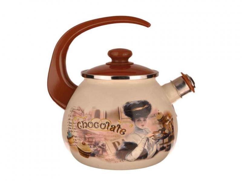Чайник EPOS 2,5л со свистком Шоколадница