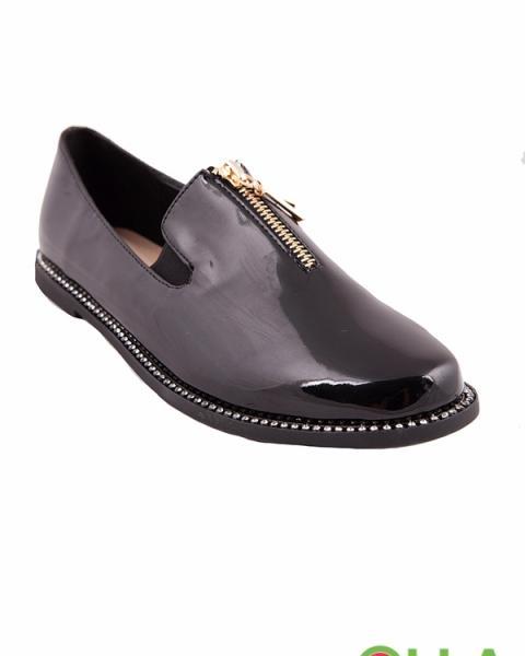 Туфли со стразами на подошве