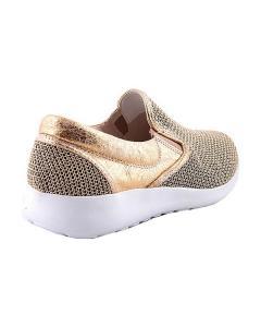 Фото Женщинам, Женская обувь, Женские кроссовки Кроссовки золотые без шнуровки