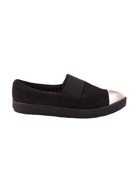 Туфли с серебристым носком