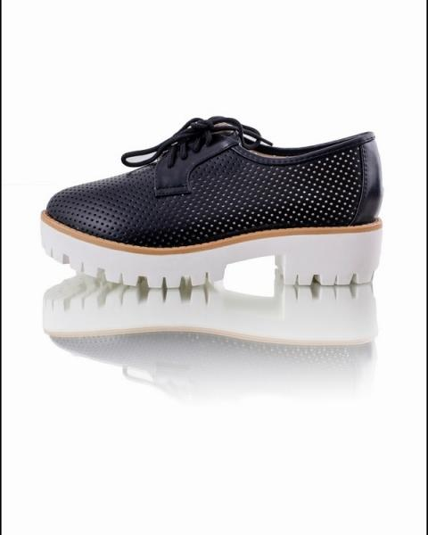 Туфли-криперы на тракторной подошве