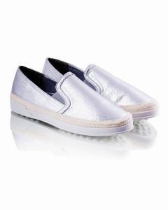 Фото Женщинам, Женская обувь, Женские слипоны Слипоны серебристые