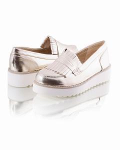 Фото Женщинам, Женская обувь, Женские туфли Золотистые туфои на платформе