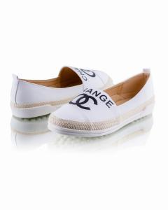 Фото Женщинам, Женская обувь, Женские балетки Белые балетки с логотипом