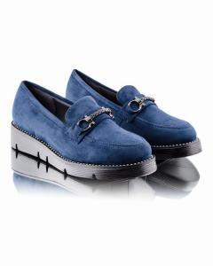 Фото Женщинам, Женская обувь, Женские туфли Синие замшевые туфли