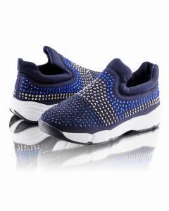 Фото Женщинам, Женская обувь, Женские кроссовки Кроссовки темно-синие со стразами