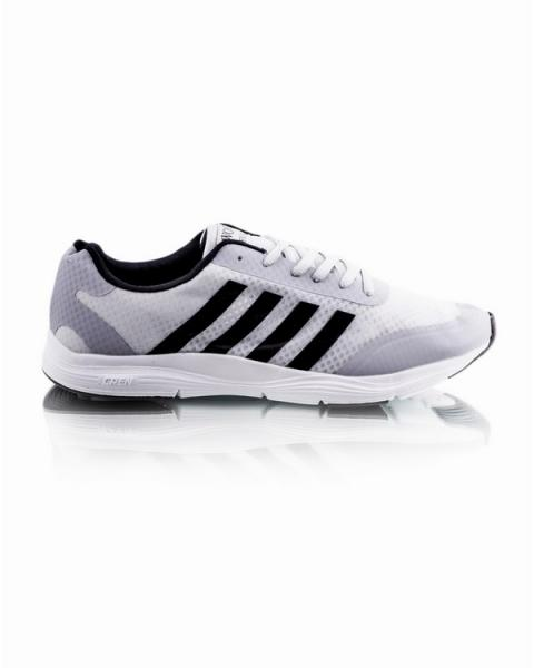 Беговые кроссовки серого цвета