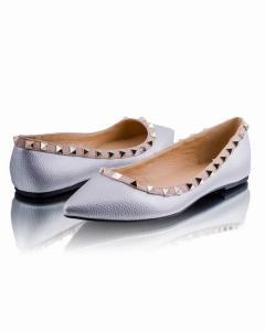 Фото Женщинам, Женская обувь, Женские балетки Серебристые балетки с острым носочком