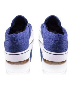 Фото Мужчинам, Мужская обувь, Мужские кеды Синие кеды на резинках