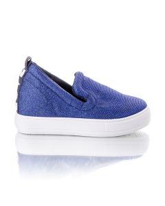 Фото Женщинам, Женская обувь, Женские слипоны Кеды синие с блестками