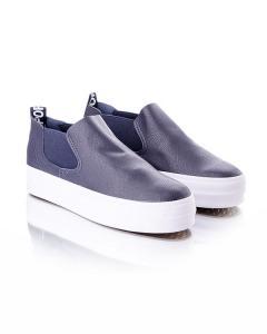 Фото Женщинам, Женская обувь, Женские кеды Слипоны синие на платформе