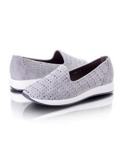 Фото Женщинам, Женская обувь, Женские кроссовки Кроссовки серые без шнуровки