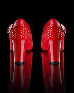 Фото Женщинам, Женская обувь, Женские туфли Красные туфли  с пряжкой