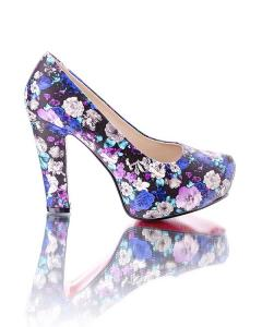 Фото Женщинам, Женская обувь, Женские туфли Туфли с цветочным принтом