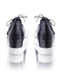Фото Женщинам, Женская обувь, Женские кеды Кеды черные на танкетке