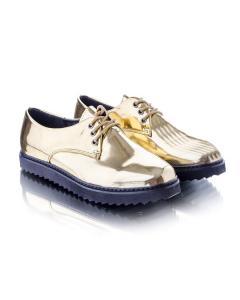 Фото Женщинам, Женская обувь, Женские туфли Туфли оксфорды золотистые