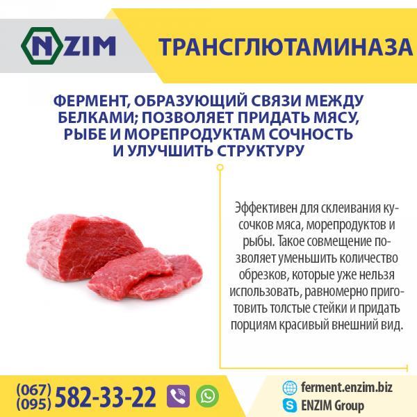 Трансглютаминаза ENZIM - Фермент для мяса (пищевая добавка)