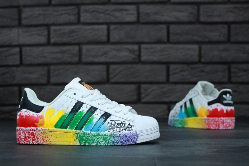 Фото СПОРТИВНАЯ ОБУВЬ, ADIDAS, Superstar Adidas Superstar White Black (36-40)