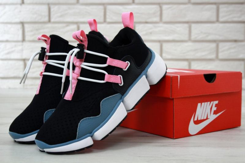 Фото  Nike Pocket Knife DM Black Pink Blue (41-45)