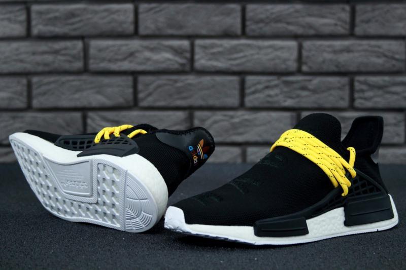 Фото СПОРТИВНАЯ ОБУВЬ, ADIDAS, NMD Adidas x Pharrell Williams Human Race NMD Black Yellow (41-45)