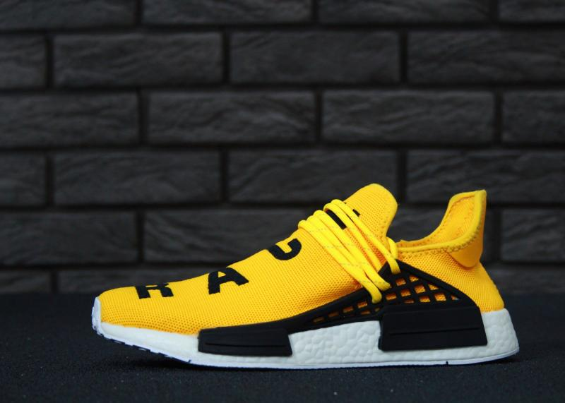 Фото СПОРТИВНАЯ ОБУВЬ, ADIDAS, NMD Adidas x Pharrell Williams Human Race NMD Yellow Black (41-45)