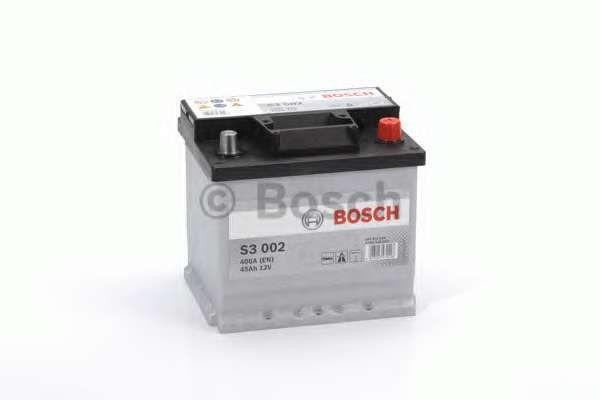 Аккумуляторная батарея Bosch S3 12v 45Аh 400A  (левый +)