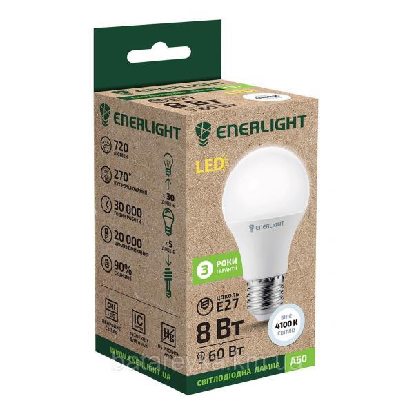 Лампа светодиодная ENERLIGHT A60 8Вт 4100K E27
