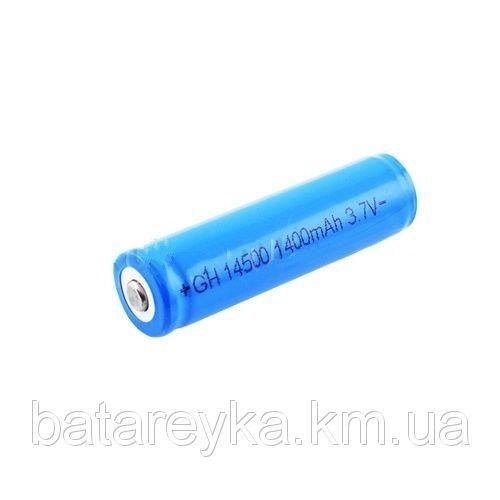 Аккумулятор Bailong 14500, 3.7V 1400mAh с защитой