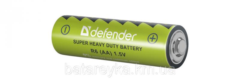 Батарейка DEFENDER Carbon Zink Battery AA/R6-4F