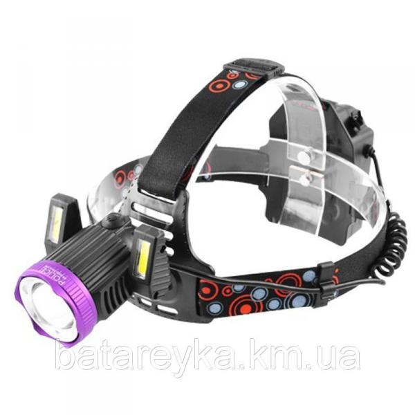 Налобный фонарь POLICE JR-6000-T6+2COB