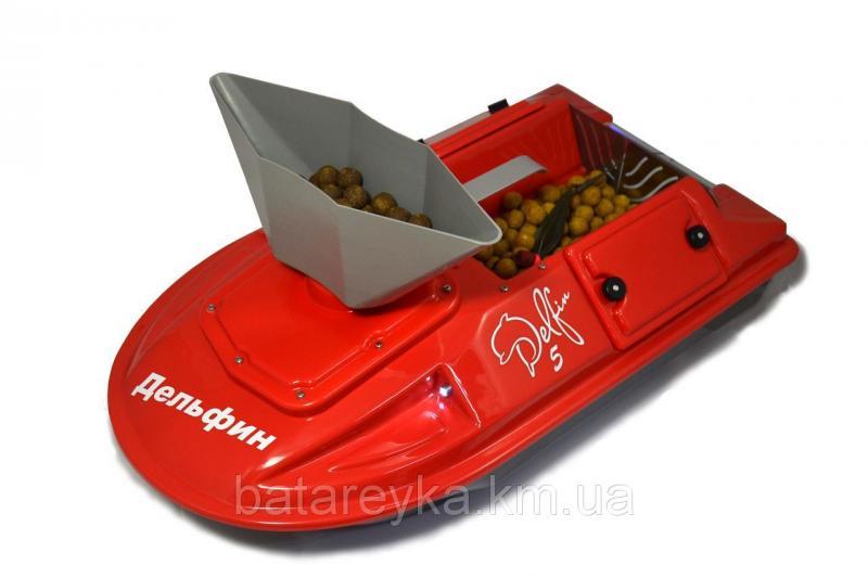 Кораблик для рыбалки Дельфин-5 с эхолотом Lucky FF 718 Li-w и GPS