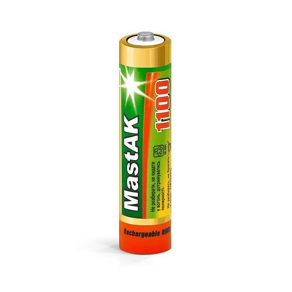 Аккумулятор MastAK Ni-MH AAA/R03 1100mAh