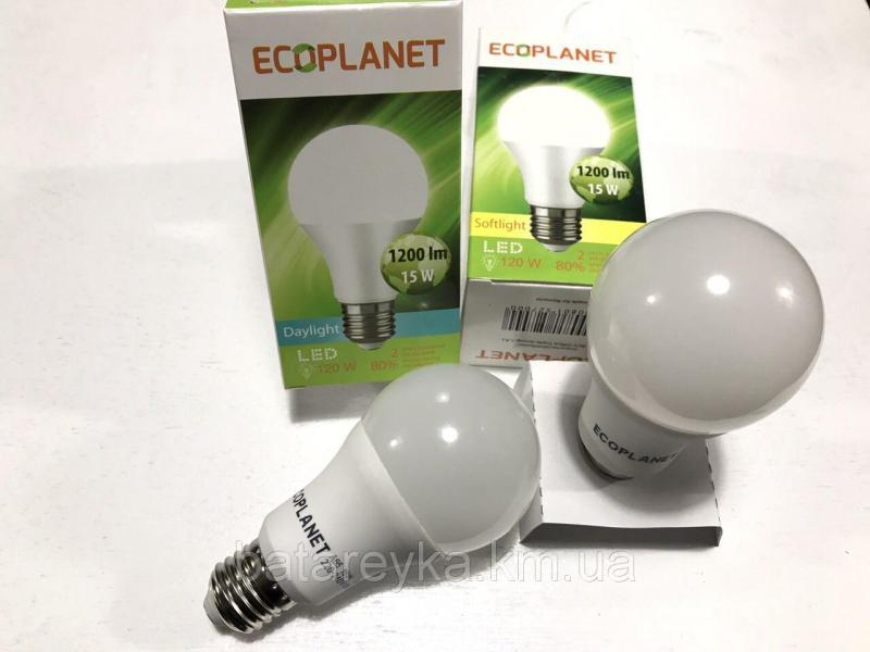 LED лампа Ecoplanet A65 230V 15W 3000K