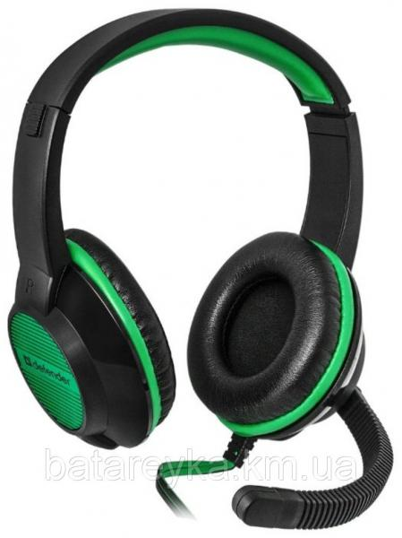 Наушники DEFENDER Warhead G-200 Black-Green