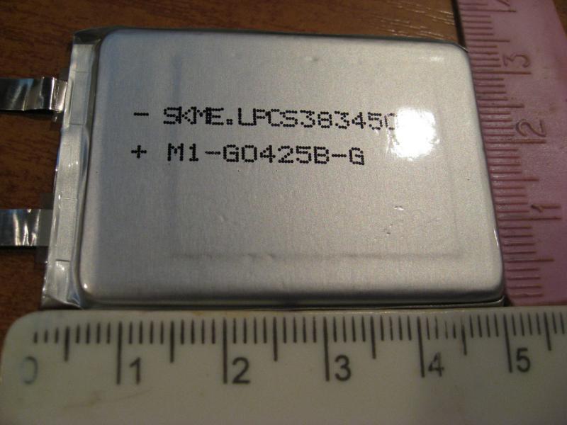 Литий-полимерный аккумулятор 3,7V 620mAh