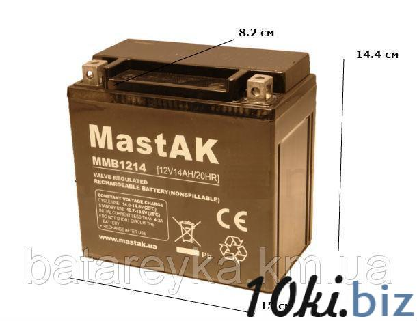 Аккумулятор для мотоцикла MMB1214 MastAK 12V 14Ah - Аккумуляторы на Хмельницком рынке