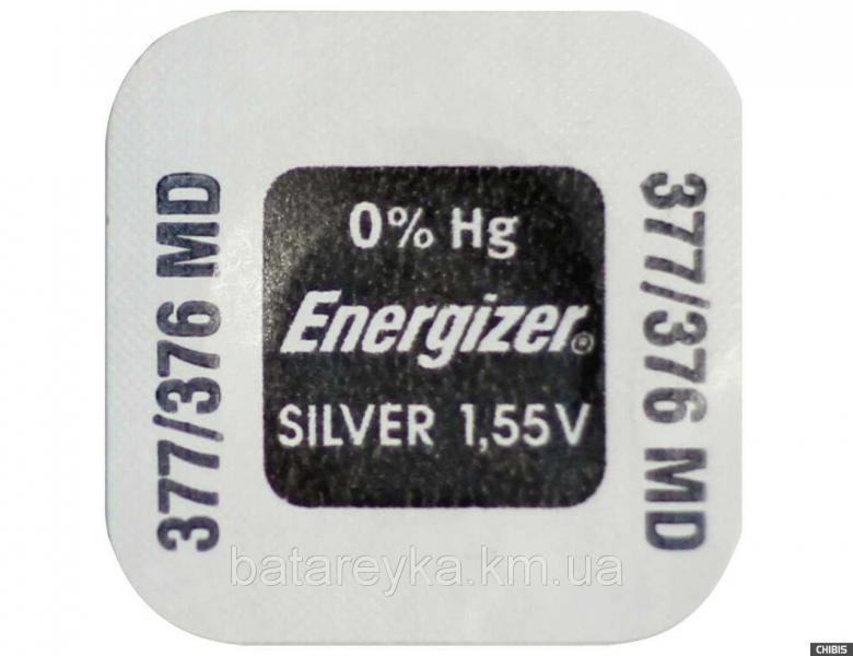 Батарейка ENERGIZER Silver Oxide V377/376 SR626SW/SR66 (AG4)