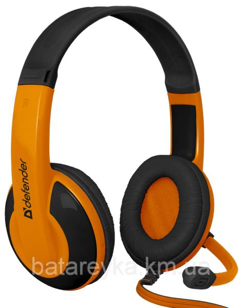 Наушники DEFENDER Warhead G-120 Black-Orange