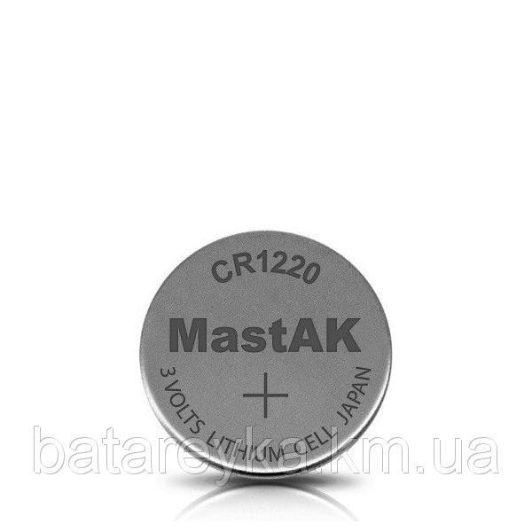 Дисковая батарейка MastAK Lithium Cell 3V  CR1220