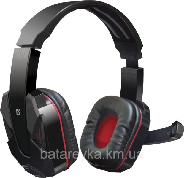 Наушники DEFENDER Warhead G-260 Black-Red