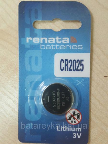Дисковая батарейка RENATA Lithium Cell 3V  CR2025 (170mAH) (C1)