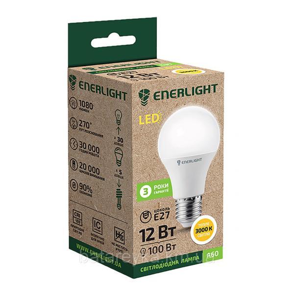 Лампа светодиодная ENERLIGHT A60 12Вт 3000K E27