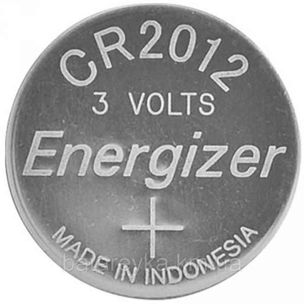 Дисковая батарейка Energizer Lithium Cell 3V CR2012