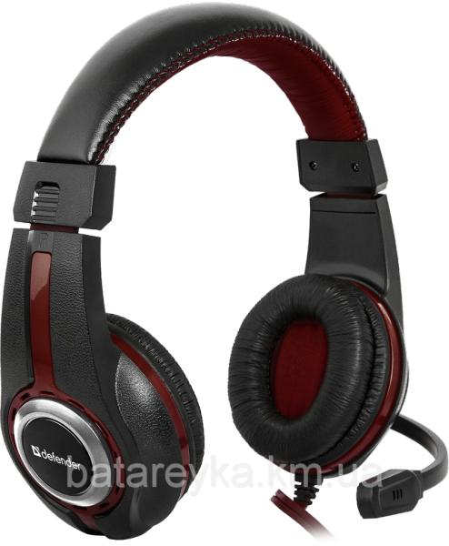 Наушники DEFENDER Warhead G-185 Black-Red