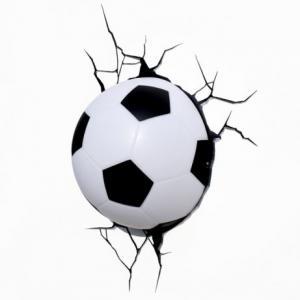 Фото  3D светильник ночник Football Light Футбольный мяч