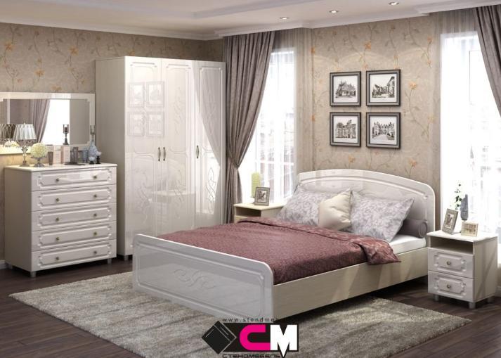 Фото Кровати Кровать Виктория МДФ 1,6м (Стендмебель)