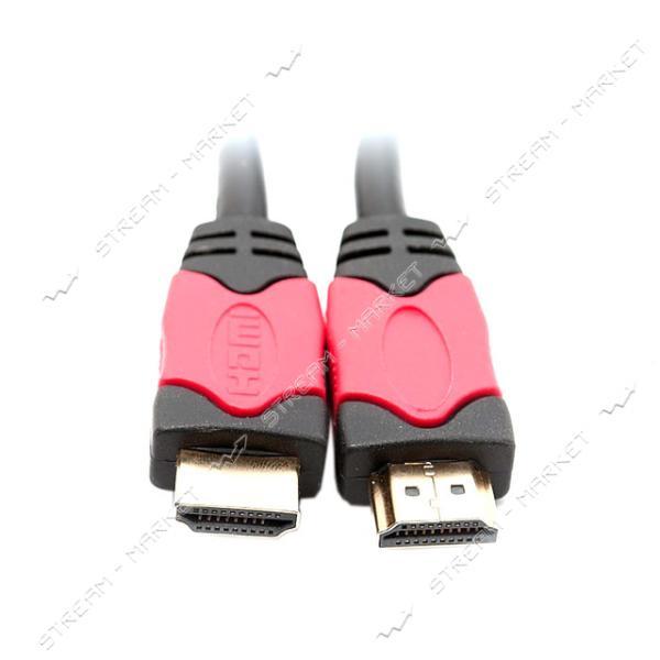 HDMI кабель 3м v1.4 red/gold