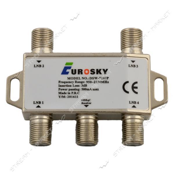 Коммутатор Eurosky DSW-7107P 4 входа