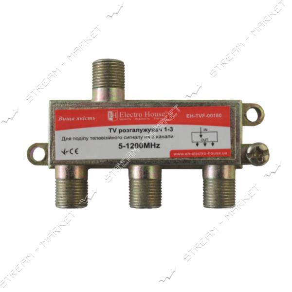 Сплиттер для антенного кабеля Electro House EH-TVF-00180